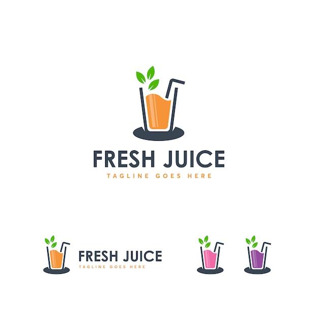 Modèle de logo frash juice Vecteur Premium