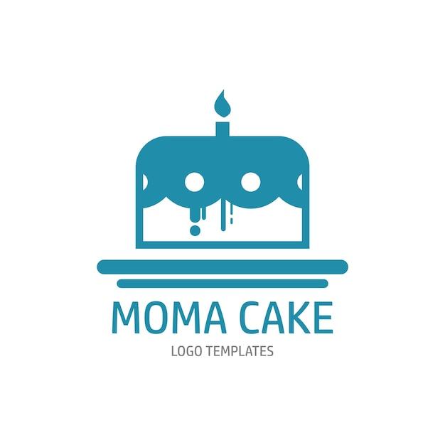 Modèle De Logo De Gâteau Vecteur Premium