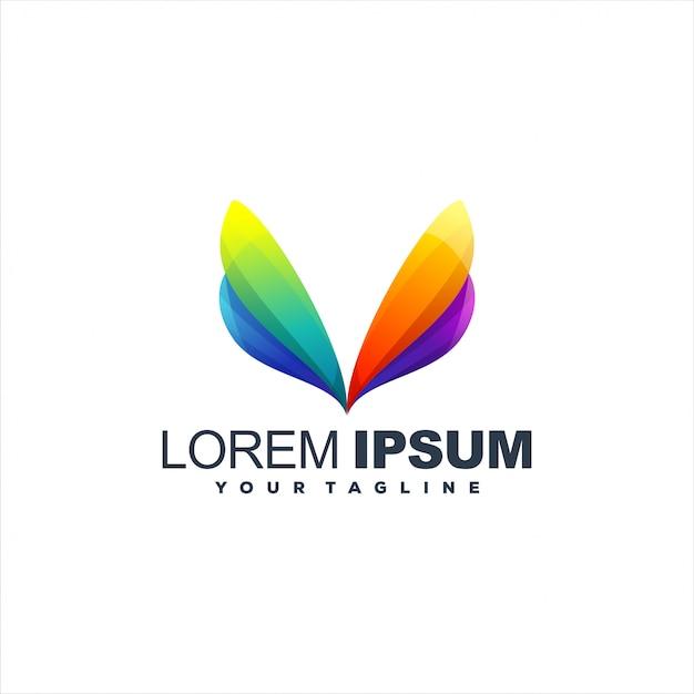 Modèle de logo génial dégradé abstrait Vecteur Premium