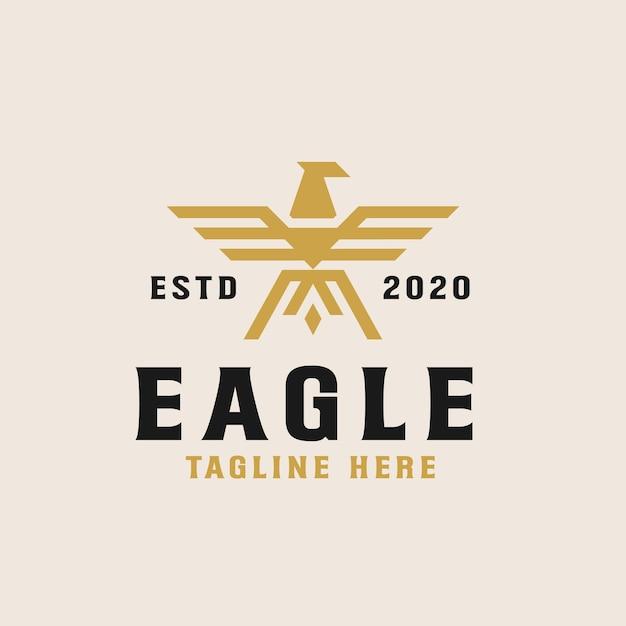 Modèle De Logo Golden Eagle Vecteur Premium