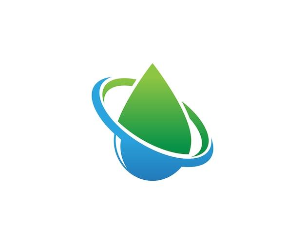 Modèle de logo goutte d'eau Vecteur Premium