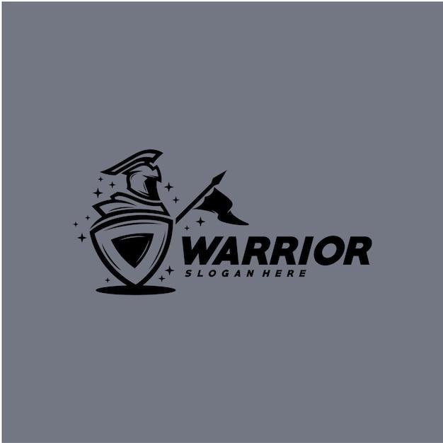Modèle de logo guerrier Vecteur Premium