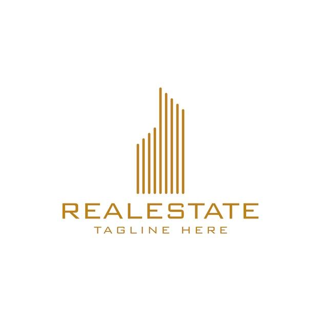 Modèle de logo immobilier Vecteur Premium