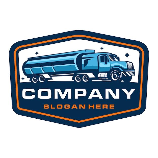 Modèle De Logo D'insigne D'entreprise De Camionnage Vecteur Premium
