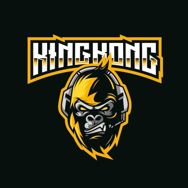 Modèle De Logo Kingkong Vecteur Premium