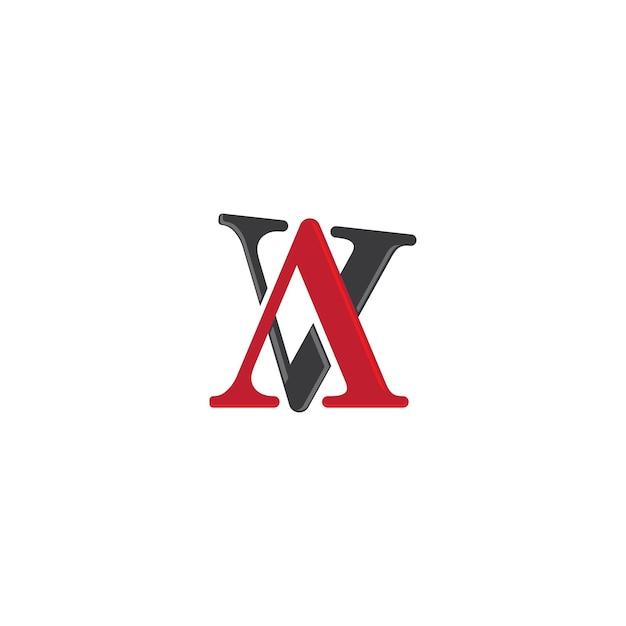 Modèle De Logo De Lettre Av Vecteur Premium