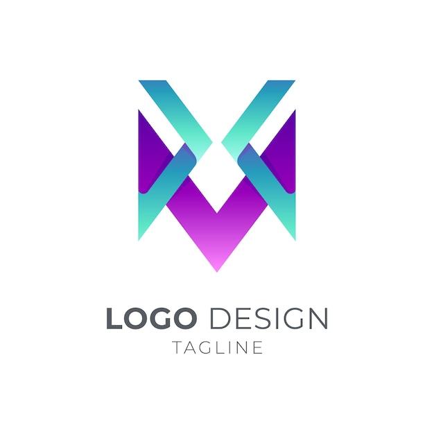 Modèle De Logo Lettre X Et M Vecteur Premium