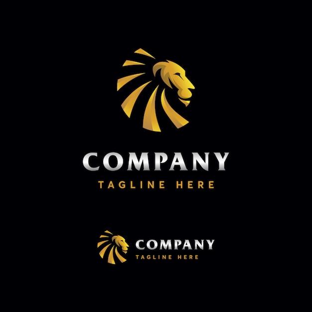 Modèle de logo lion premium Vecteur Premium
