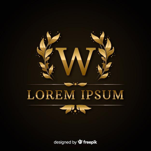 Modèle de logo de luxe élégant doré Vecteur gratuit