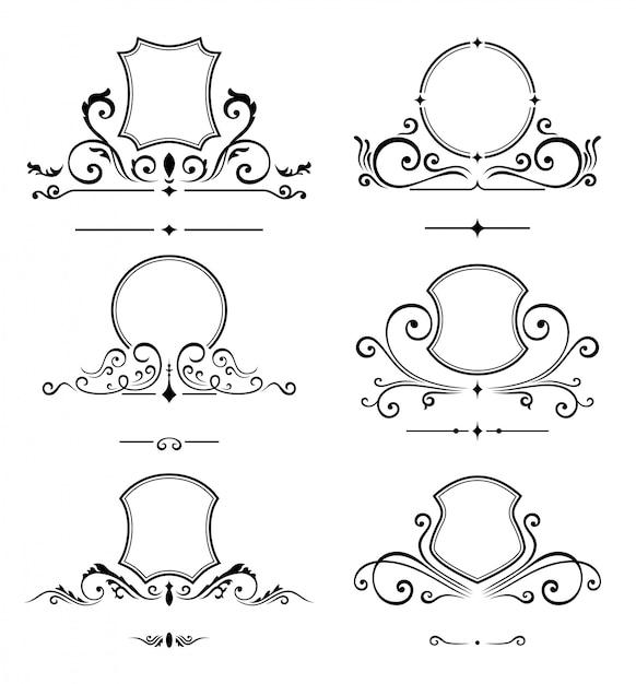 Modèle de logo de luxe. identité de monogramme pour le restaurant Vecteur Premium