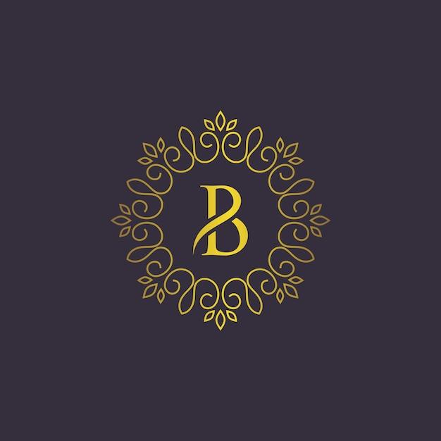Modèle de logo de luxe Vecteur Premium