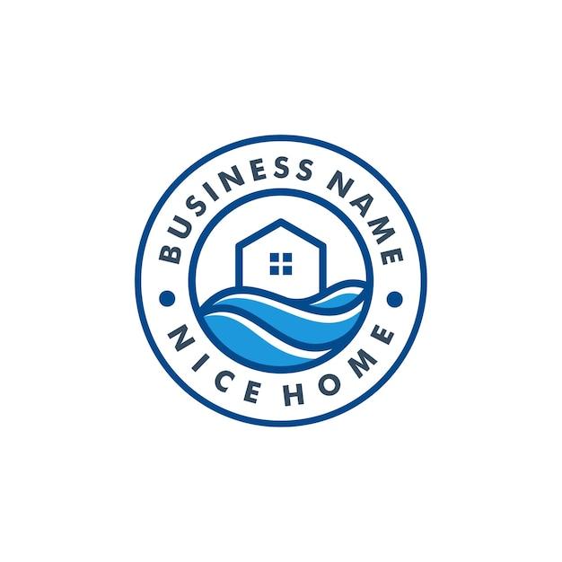 Modèle De Logo Maison Vecteur Premium