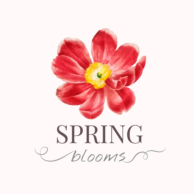 Modèle de logo de marque de fleur Vecteur gratuit