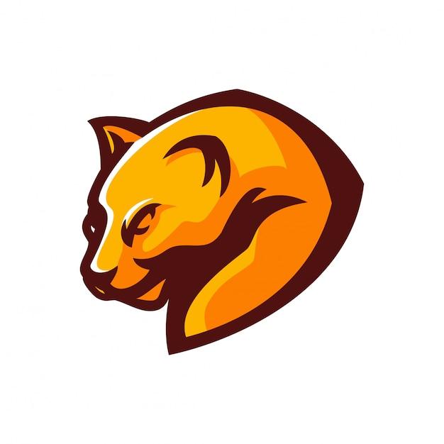 Modèle de logo de mascotte de jeu esport jaguar / panther Vecteur Premium