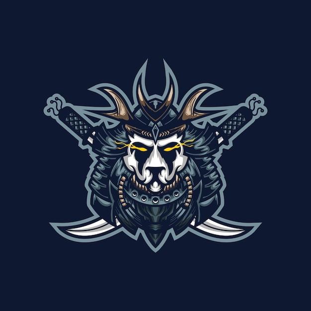 Modèle De Logo De Mascotte De Jeu Esport Panda Samouraï Pour L'équipe De Streamers. Vecteur Premium