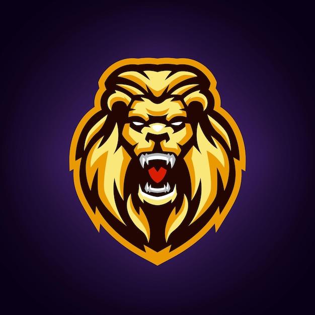 Modèle De Logo De Mascotte De Lion Vecteur Premium