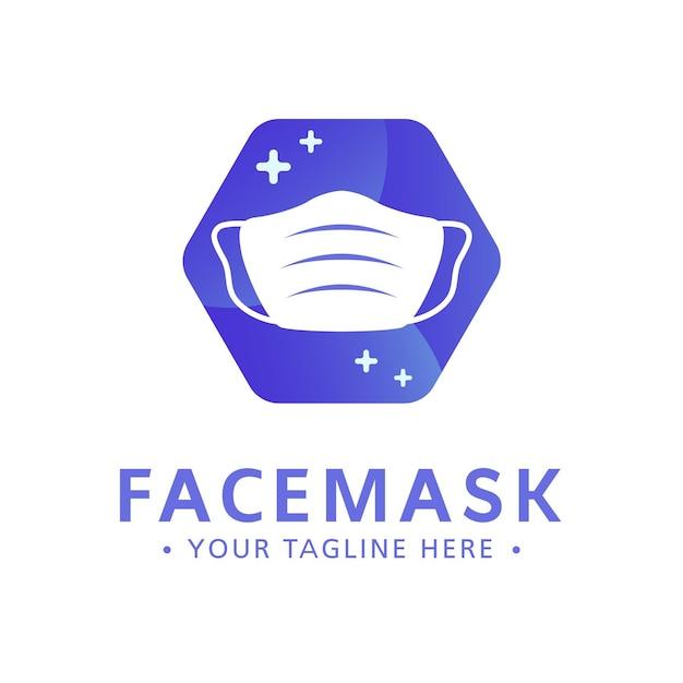 Modèle De Logo De Masque Facial Vecteur gratuit