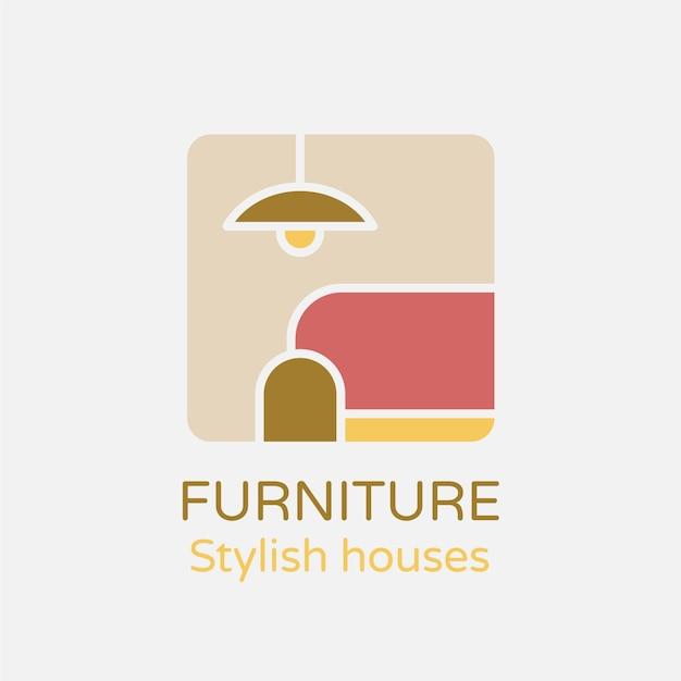 Modèle De Logo De Meubles Vecteur gratuit