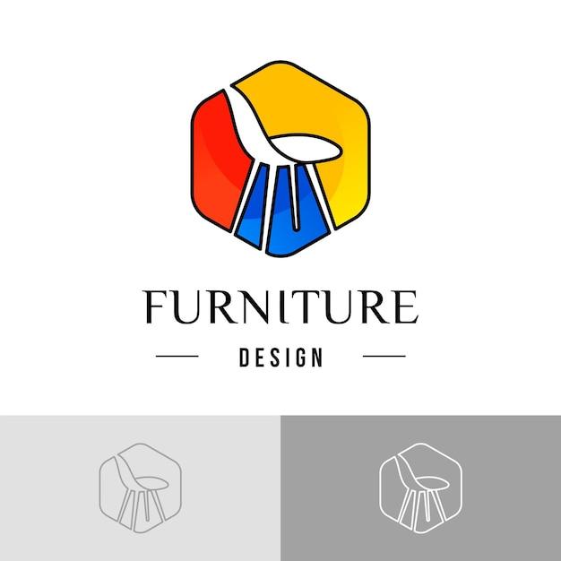 Modèle De Logo De Meubles Vecteur Premium