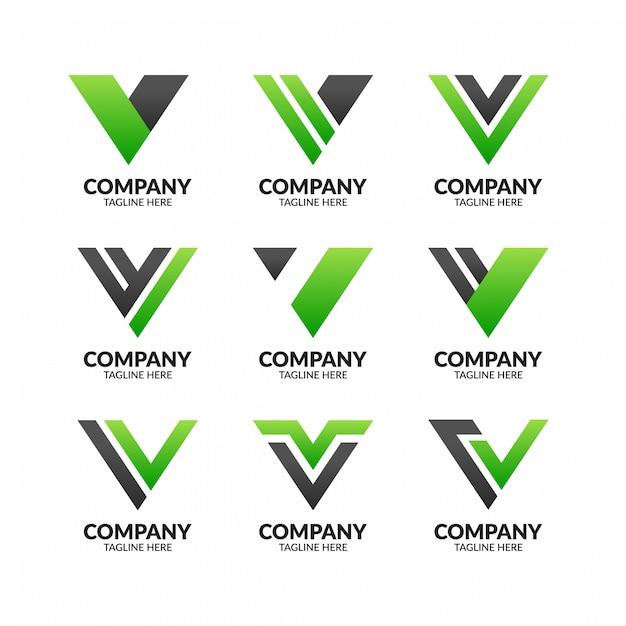 Modèle De Logo Moderne Professionnel Lettre V Vecteur Premium
