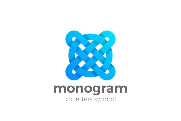 Modèle De Logo Monogramme Lettres Xo. Vecteur gratuit