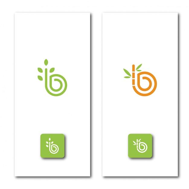 Modèle De Logo Nature Lettre B Vecteur Premium