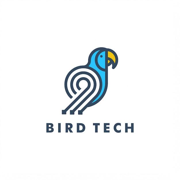 Modèle de logo oiseau Vecteur Premium