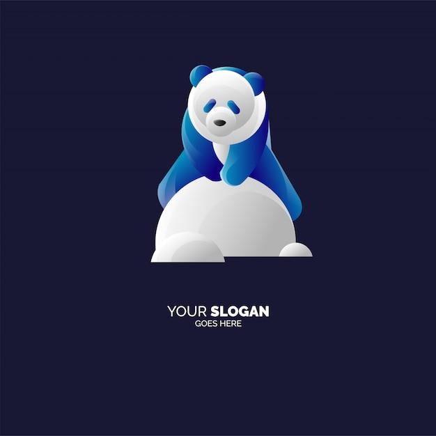 Modèle De Logo Panda Vecteur Premium