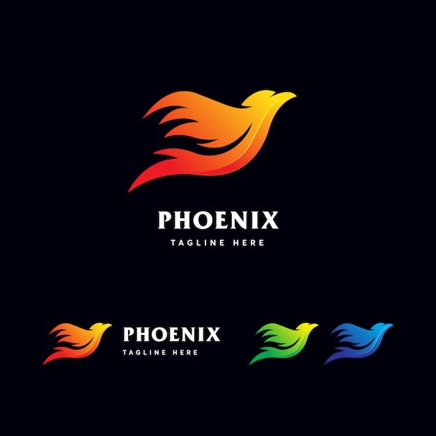 Modèle de logo phoenix Vecteur Premium