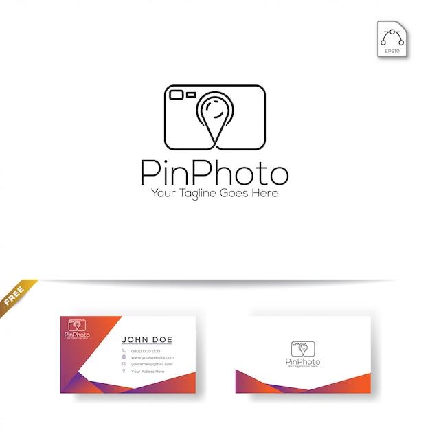 Modèle de logo de photographe Vecteur Premium