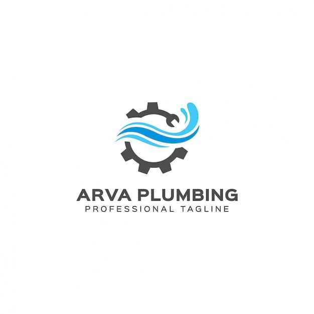 Modèle de logo de plomberie arva Vecteur Premium
