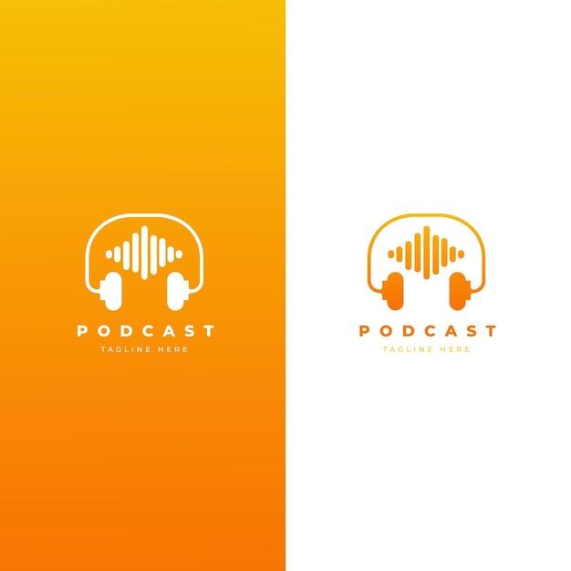 Modèle De Logo De Podcast Détaillé Vecteur gratuit