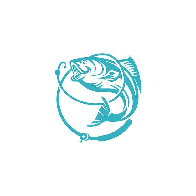 Modèle de logo de poisson Vecteur Premium