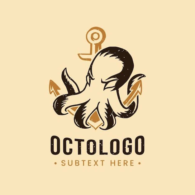Modèle De Logo De Poulpe Créatif Vecteur gratuit