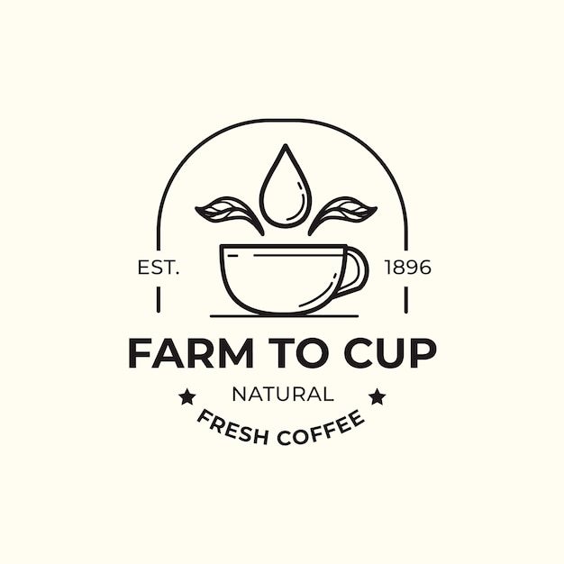 Modèle De Logo Pour La Conception D'entreprise De Café Vecteur gratuit