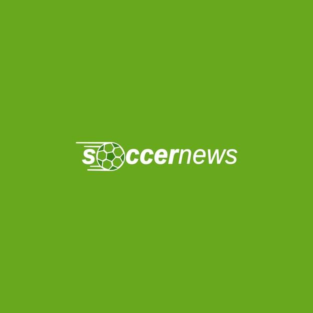 Modèle De Logo Pour Les Nouvelles De Sport De Football Vecteur Premium