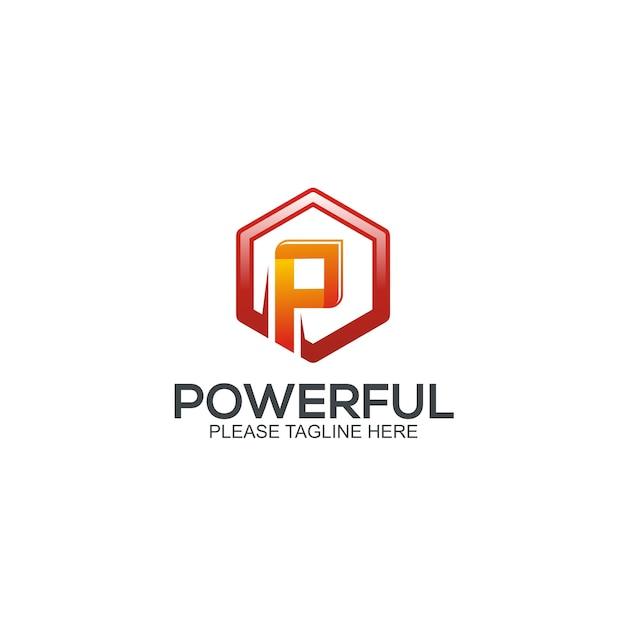 Modèle de logo puissant Vecteur Premium