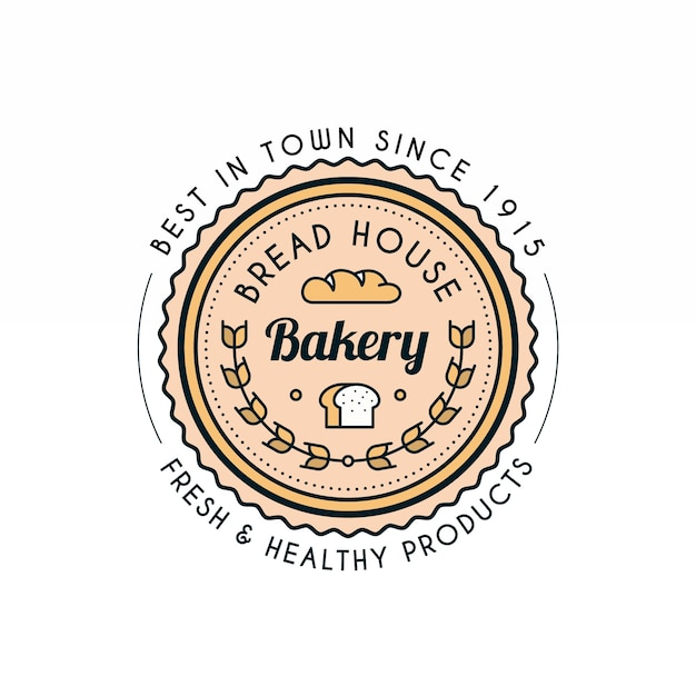 Modèle De Logo Rétro Backery Vecteur gratuit