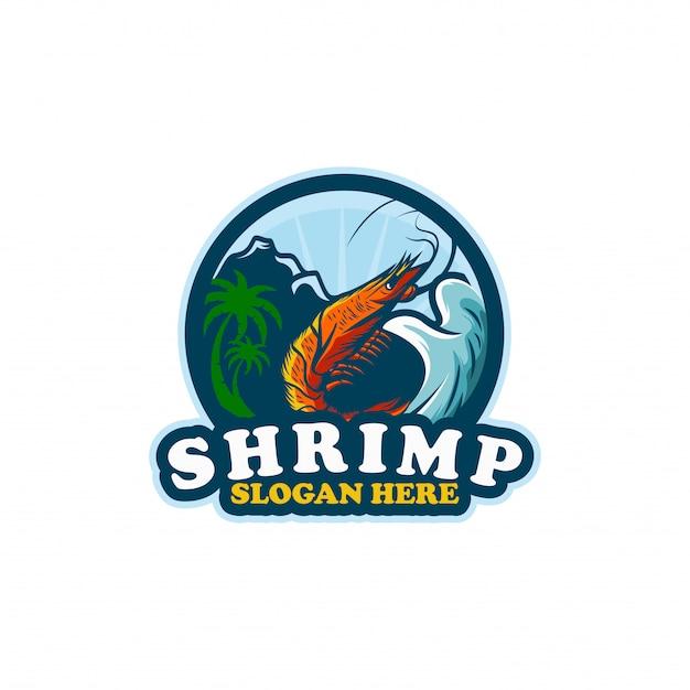 Modèle De Logo Shirmp Vecteur Premium