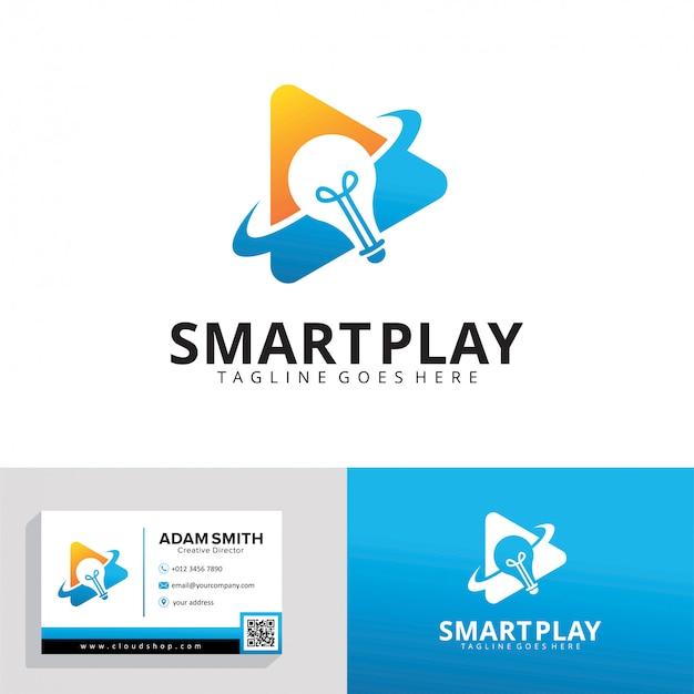 Modèle De Logo Smart Play Vecteur Premium