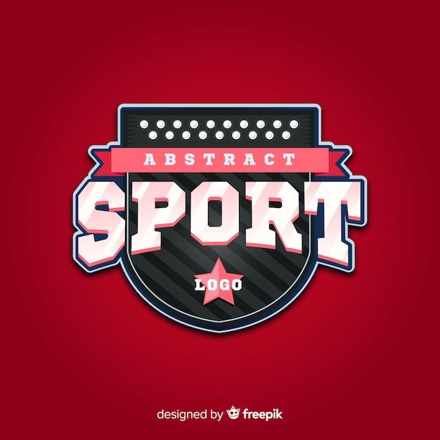 Modèle de logo de sport abstrait Vecteur gratuit