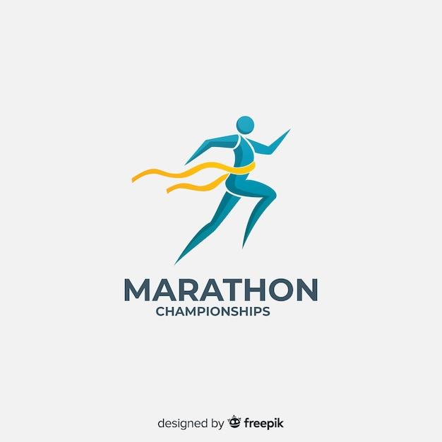 Modèle de logo de sport avec forme abstraite Vecteur gratuit