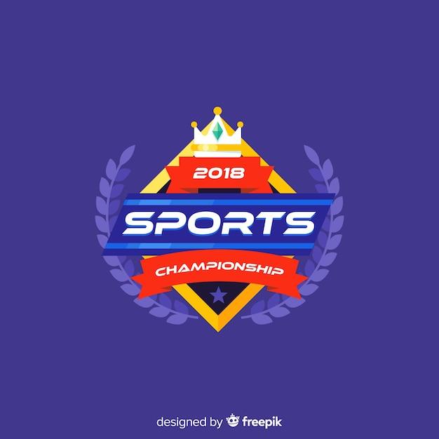 Modèle de logo sport moderne avec dessin abstrait Vecteur gratuit