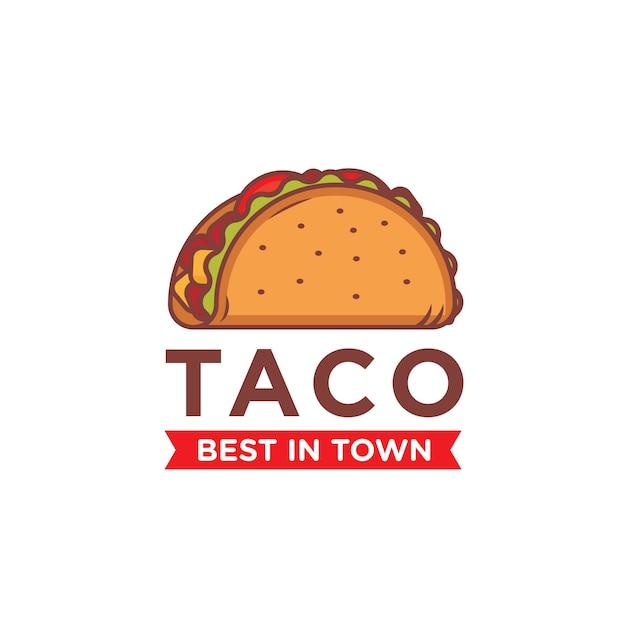 Modèle de logo taco Vecteur Premium