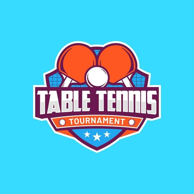 Modèle De Logo De Tennis De Table Détaillé Vecteur gratuit