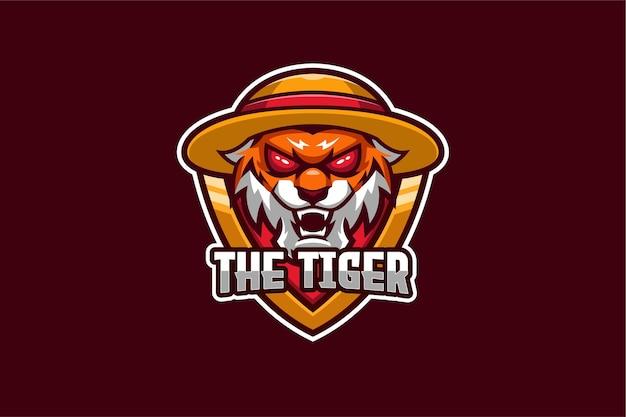 Le Modèle De Logo Tiger E-sport Vecteur Premium