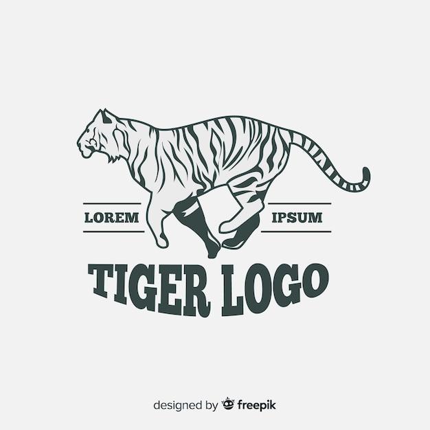 Modèle de logo de tigre moderne Vecteur gratuit