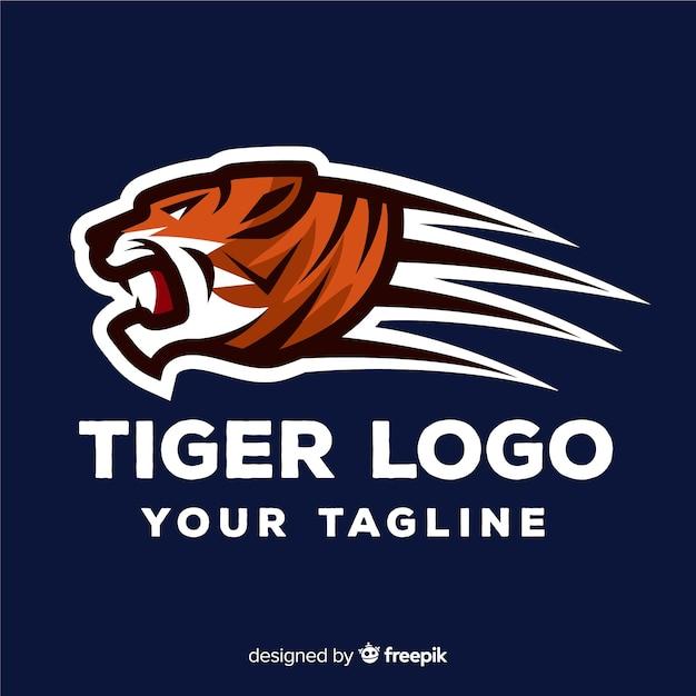 Modèle de logo de tigre Vecteur gratuit