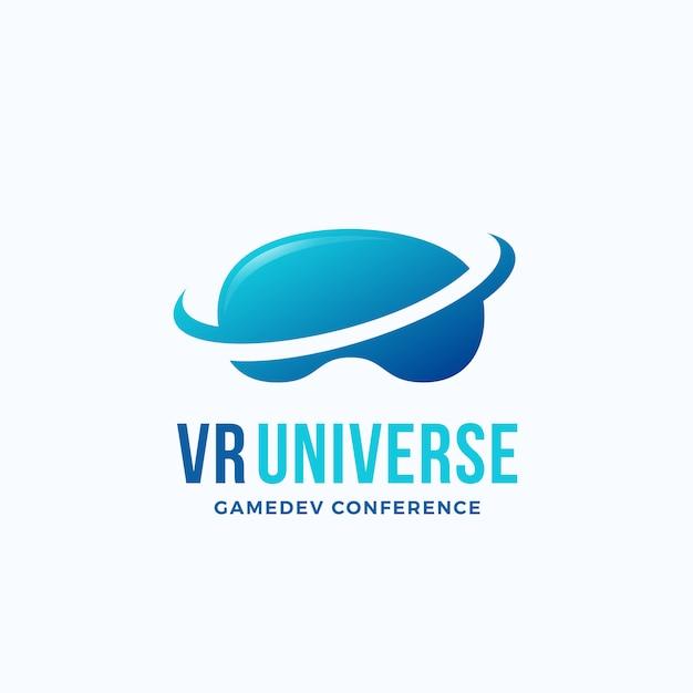 Modèle De Logo D'univers De Réalité Virtuelle. Vecteur Premium