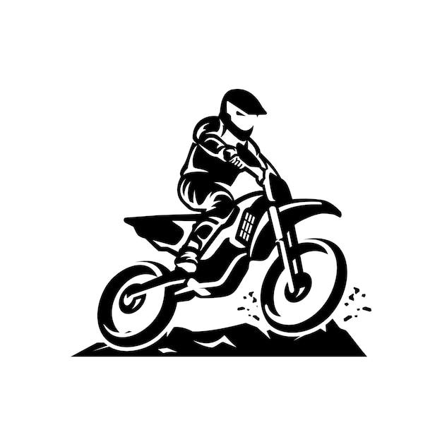 Modèle de logo vectoriel motocross Vecteur Premium